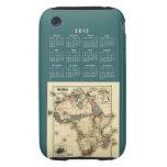 2012 Calendar Template iPhone 3 Tough Case