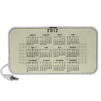 2012 Calendar Template iPod Speakers