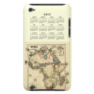 2012 Calendar with Africa Map Template iPod Touch Case
