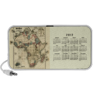 2012 Calendar with Africa Map Template iPod Speakers