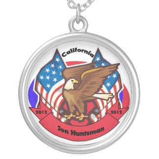 2012 California for Jon Huntsman Round Pendant Necklace