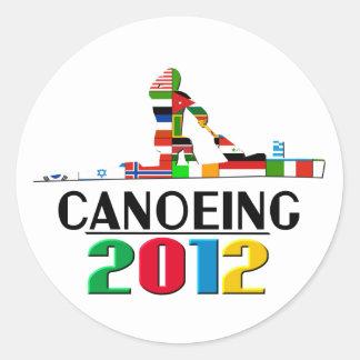 2012: Canoeing Classic Round Sticker