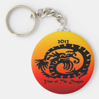 2012 Chinese New Year Dragon Basic Round Button Key Ring