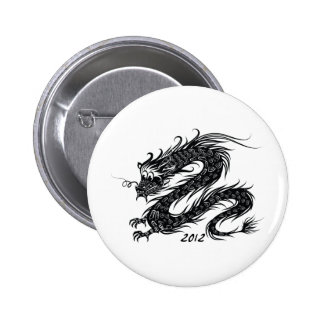 2012 Chinese New Year The Year of The Dragon Pinback Buttons