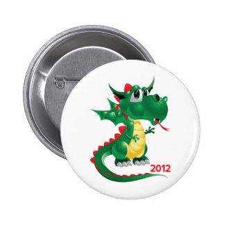 2012 Chinese New Year The Year of The Dragon Buttons