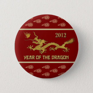2012 .Chinese Year of the Dragon 6 Cm Round Badge