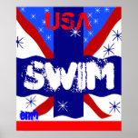2012 Cool USA Swim Sports Art Canvas Print Gift