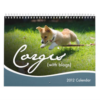 2012 Corgis (with blogs) Wall Calendar
