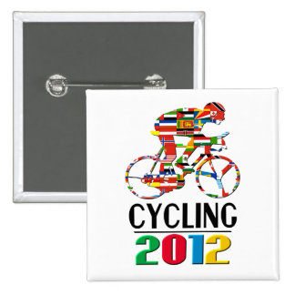 2012: Cycling 15 Cm Square Badge