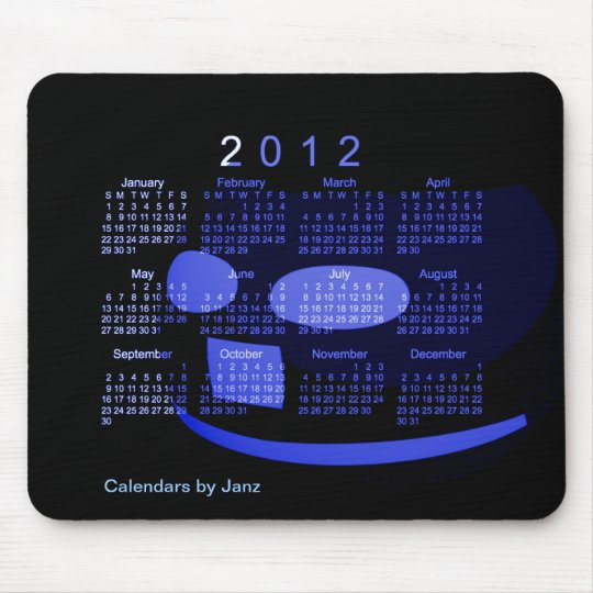2012 Desk Calendar Mouse Pad