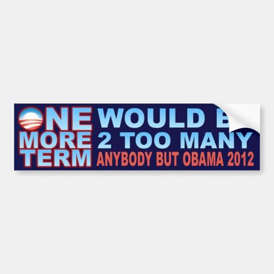 2012 Election - Anybody But Obama Bumper Sticker