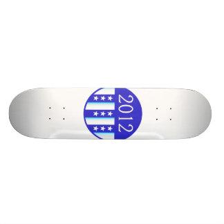 2012 election round seal blue version 21.6 cm old school skateboard deck