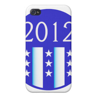 2012 election round seal blue version iPhone 4 case
