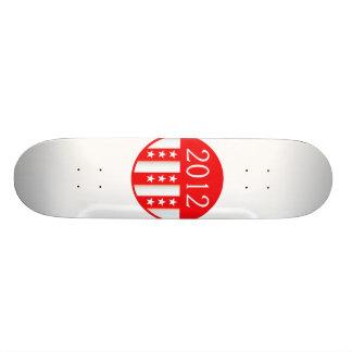 2012 election round seal red version 20 cm skateboard deck