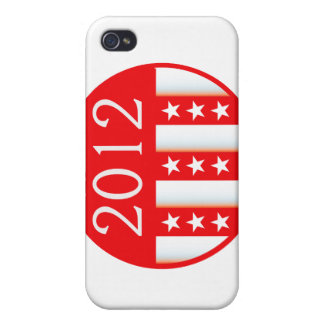 2012 election round seal red version iPhone 4/4S cases