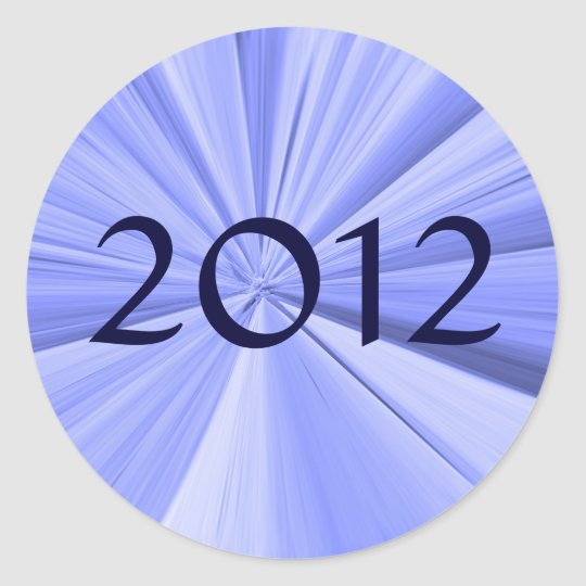 2012 Envelope Seal Round Sticker