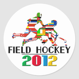 2012: Field Hockey Classic Round Sticker