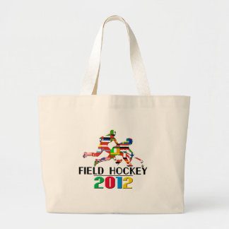 2012: Field Hockey Large Tote Bag
