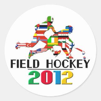 2012: Field Hockey Round Sticker
