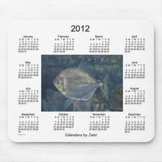 2012 Fish Calendar Mouse Pad