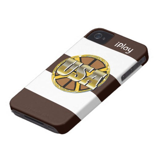 2012 Gold USA Sports Basketball Fan iPhone Case iPhone 4 Case-Mate Case