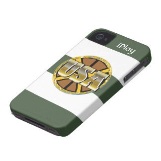 2012 Gold USA Sports Basketball Fan iPhone Case Case-Mate iPhone 4 Cases