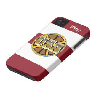 2012 Gold USA Sports Basketball Fan iPhone Case iPhone 4 Cover
