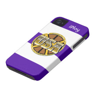 2012 Gold USA Sports Basketball iPlay iPhone Case iPhone 4 Case-Mate Cases