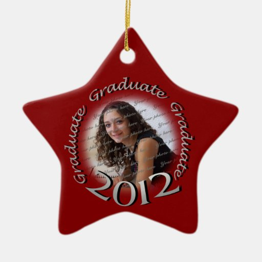 2012 graduate red and silver photo zazzle for Christmas tree with red and silver ornaments