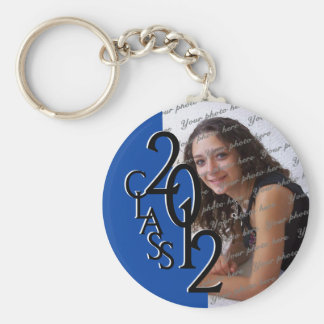 2012 Graduation Keepsake, Blue Basic Round Button Key Ring