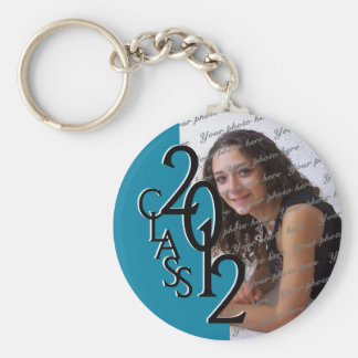 2012 Graduation Keepsake, Light Blue Basic Round Button Key Ring