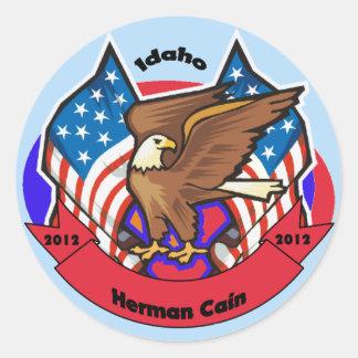 2012 Idaho for Herman Cain Round Sticker