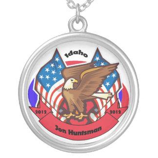 2012 Idaho for Jon Huntsman Round Pendant Necklace