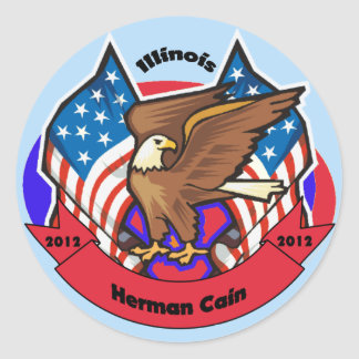 2012 Illinois for Herman Cain Sticker