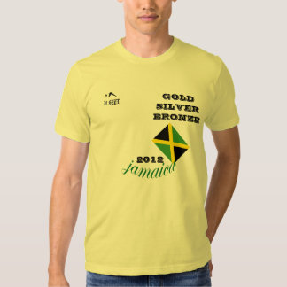 "2012 Jamaica ""Gold Silver Bronze"" Sports Tshirt"