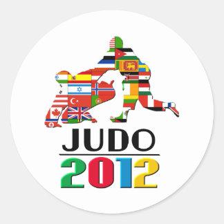 2012: Judo Round Sticker