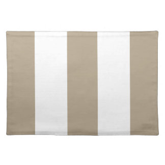 2012 Khaki & White Stripe Placemat Gift