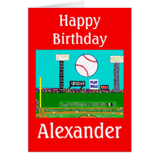2012 Kid Sport Baseball Personalized Birthday Card