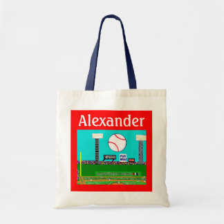 2012 Kids Sports Personalized Baseball Tote Bag