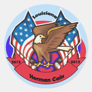 2012 Louisiana for Herman Cain Round Stickers