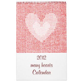2012 many hearts Calendar