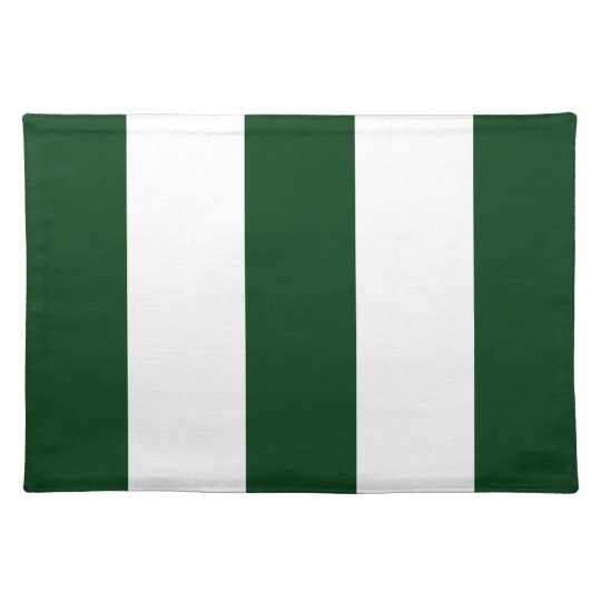 2012 New Hunter Green & White Stripe Placemat Gift