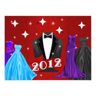 "2012 New Years Eve Gala Invitation 6.5"" X 8.75"" Invitation Card"