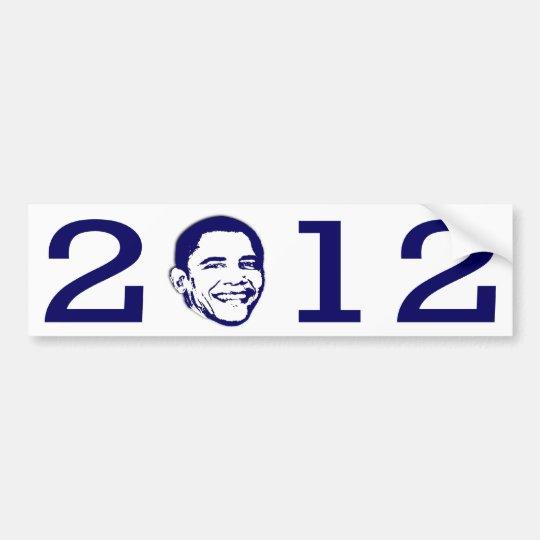 2012 Obama Head Bumper Sticker