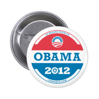 2012 Obama Logo 6 Cm Round Badge