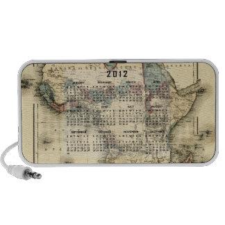 2012 opaque Calendar Template Notebook Speaker