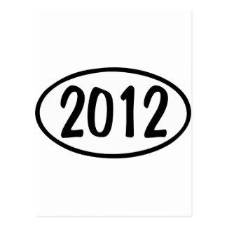 2012 Oval Postcard