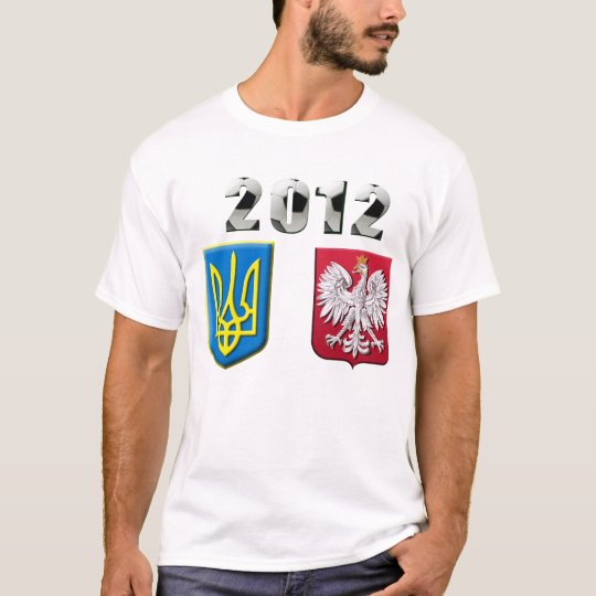 2012 Poland Ukraine European Football Soccer Cup T-Shirt