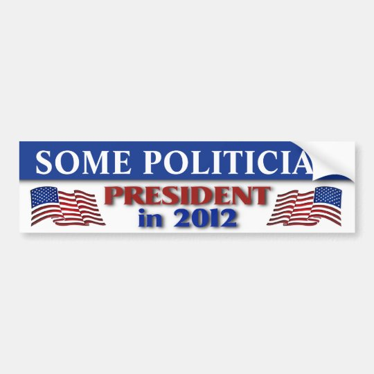 2012 Presidential Election Customisable Bumper Sticker