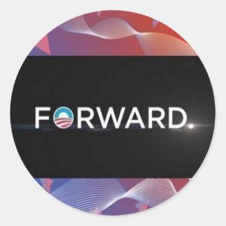 "2012 Presidential Election ""Forward"" Slogan Gear Round Sticker"